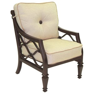 Castelle by Pride Family Brands Villa Bianca Cushioned Dining Chair