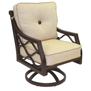 Castelle by Pride Family Brands Villa Bianca Cushioned Swivel Rocker