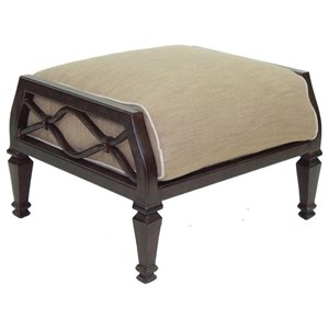 Castelle by Pride Family Brands Villa Bianca Cushioned Ottoman