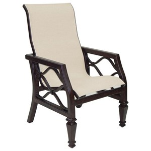 Castelle by Pride Family Brands Villa Bianca Sling Dining Chair