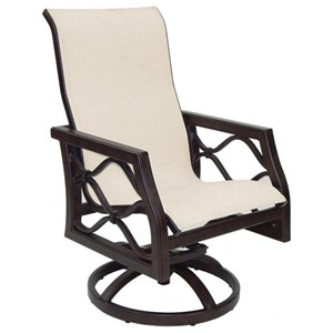 Castelle by Pride Family Brands Villa Bianca Sling Swivel Rocker