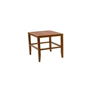 Castelle by Pride Family Brands Villa Bianca Transitional Square Side Table