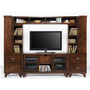 Morris Home Furnishings New Haven 4-Piece Media Wall