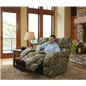 Catnapper Appalachian Casual Lay Flat Power Recliner with Throw Pillow
