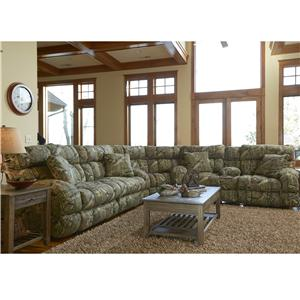 Catnapper Appalachian Casual PowerReclining Sleeper Sofa Sectional