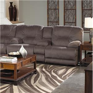 Catnapper Noble Lay Flat Power Reclining Console Love Seat