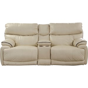 Catnapper Larkin Power Lay-Flat Reclining Console Loveseat