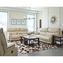 Catnapper Larkin Power Lay-Flat Reclining Console Loveseat with Storage and Cup-Holders