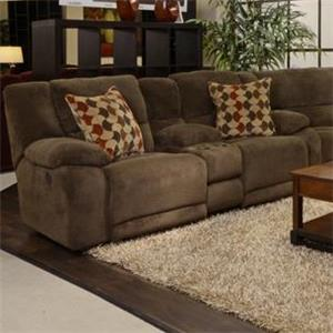 Catnapper Hammond Reclining Console Loveseat