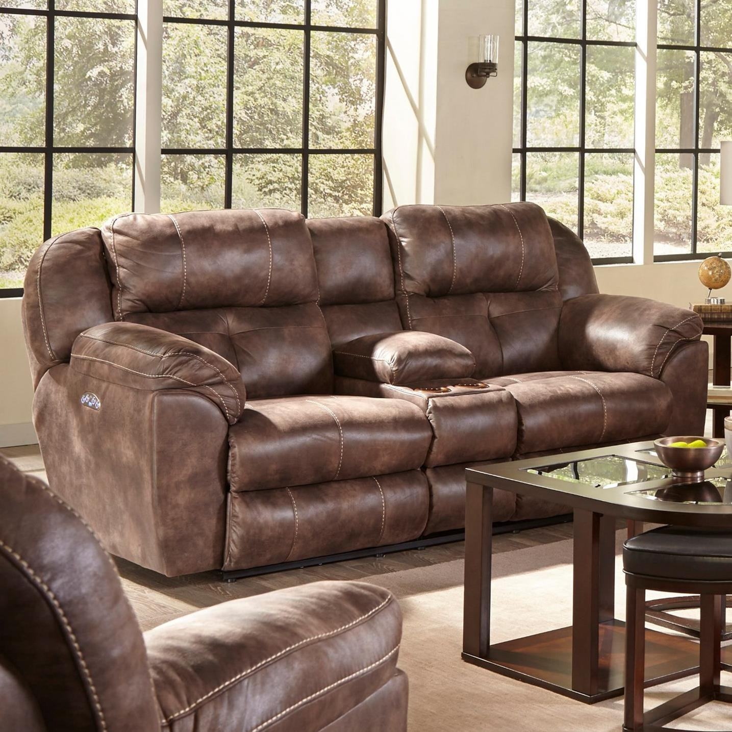 Catnapper Ferrington Pwr Headrest Lay-Flat Reclining Console Sofa - Item Number: 61899-1300-89