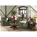 Catnapper Huntley Casual Love Seat with Pillow Top Arms