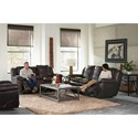 Catnapper 419 Aria Lay Flat Reclining Sofa with Pillow Arms