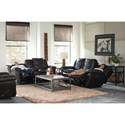 Catnapper 419 Aria Lay Flat Reclining Loveseat with Console