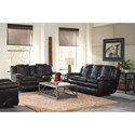 Catnapper 419 Aria Power Lay Flat Reclining Sofa with Pillow Arms