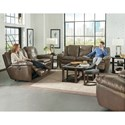 Catnapper 419 Aria Power Lay Flat Reclining Loveseat with Console