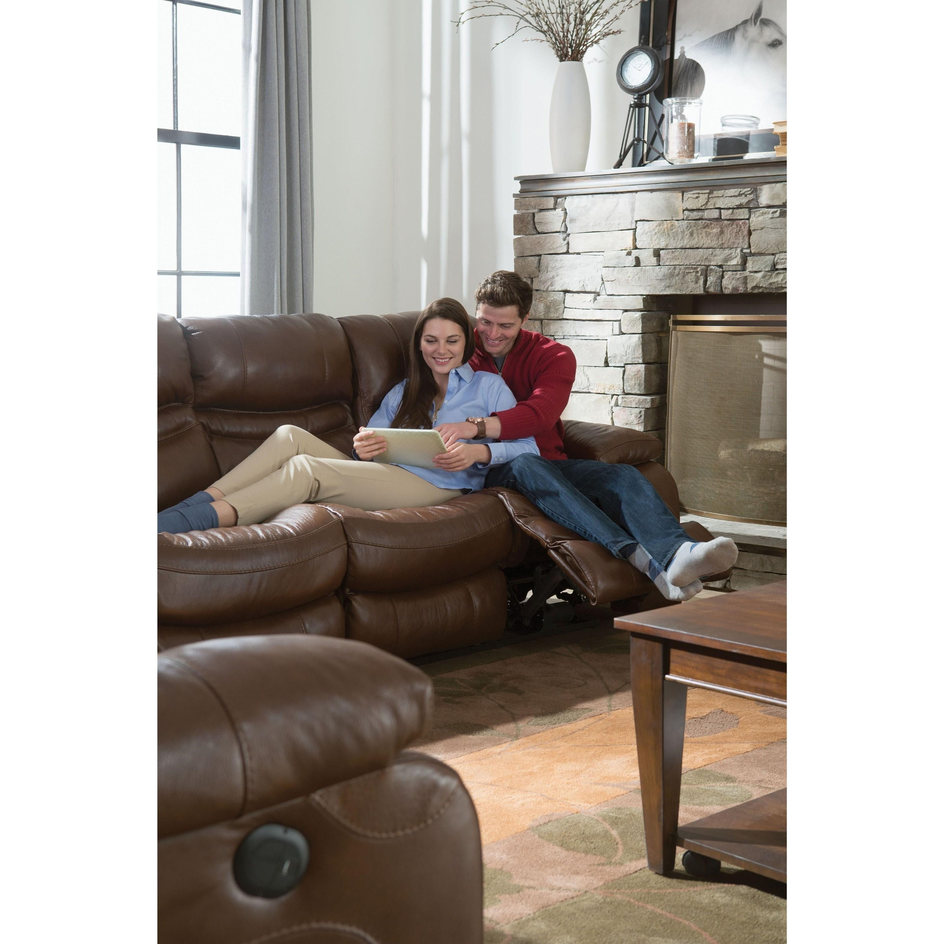 Catnapper 424 Patton Lay Flat Reclining Sofa With Pillow
