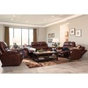 Catnapper 424 Patton Lay Flat Reclining Sofa with Pillow Arms