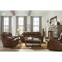 Catnapper 424 Patton Lay Flat Reclining Loveseat with Storage Console and Cupholders