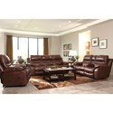 Catnapper 424 Patton Power Lay Flat Reclining Sofa with Pillow Arms