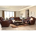 Catnapper 424 Patton Power Lay Flat Reclining Loveseat with Storage Console and Cupholders