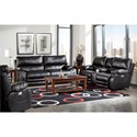 Catnapper Sheridan Casual Power Lay-Flat Sofa with Comfort Control Panel Technology