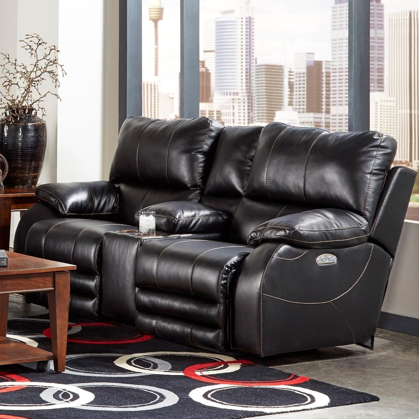 Power Lay-Flat Console Loveseat