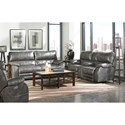 Catnapper Sheridan Casual Power Lay-Flat Console Loveseat with Comfort Control Panel Technology