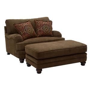 Jackson Furniture Brennan Chair and a Half and Ottoman