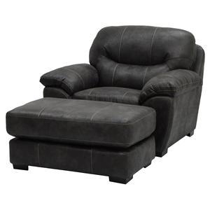 Jackson Furniture Grant Chair and a Half and Ottoman Set