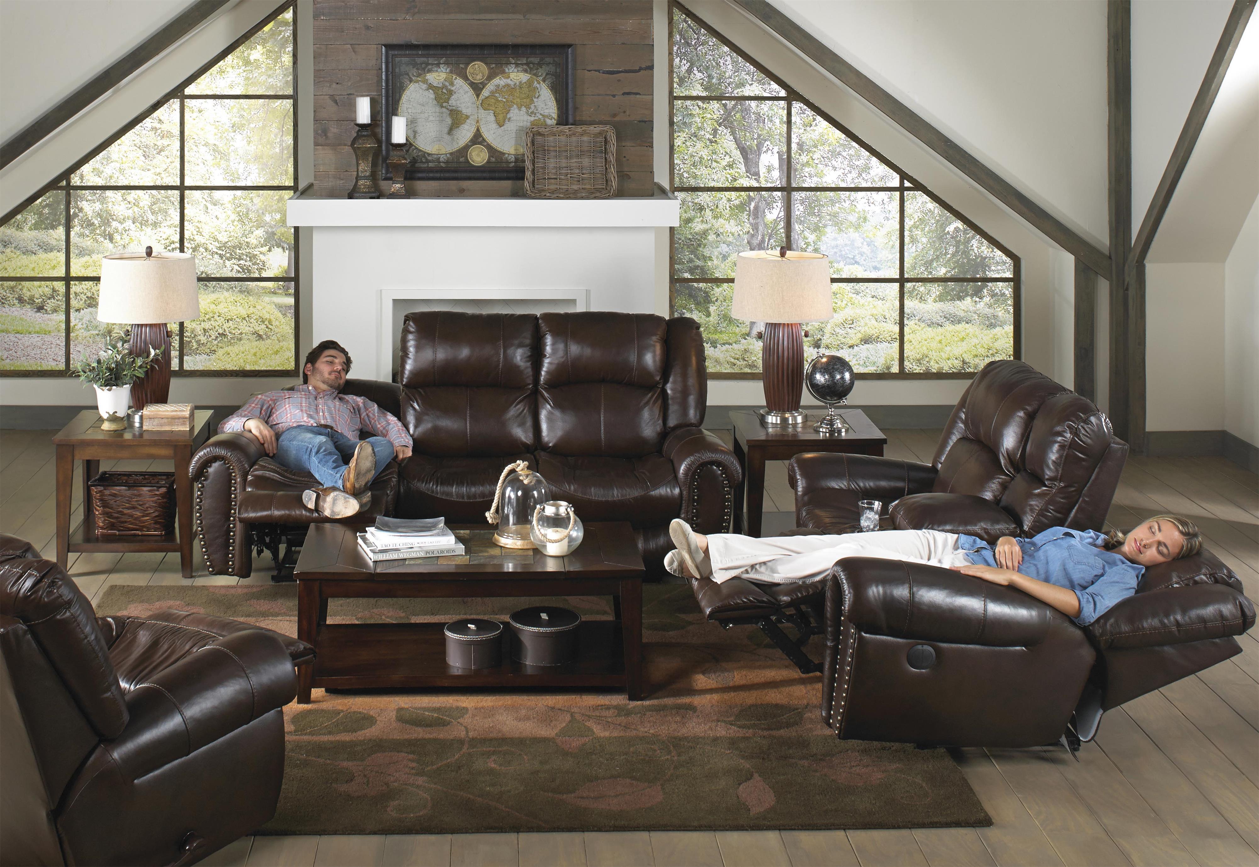 Catnapper 466 jordan reclining living room group for Living room june jordan