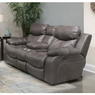 Catnapper Connor Lay Flat Console Reclining Loveseat w/Pwr He - Item Number: 764009