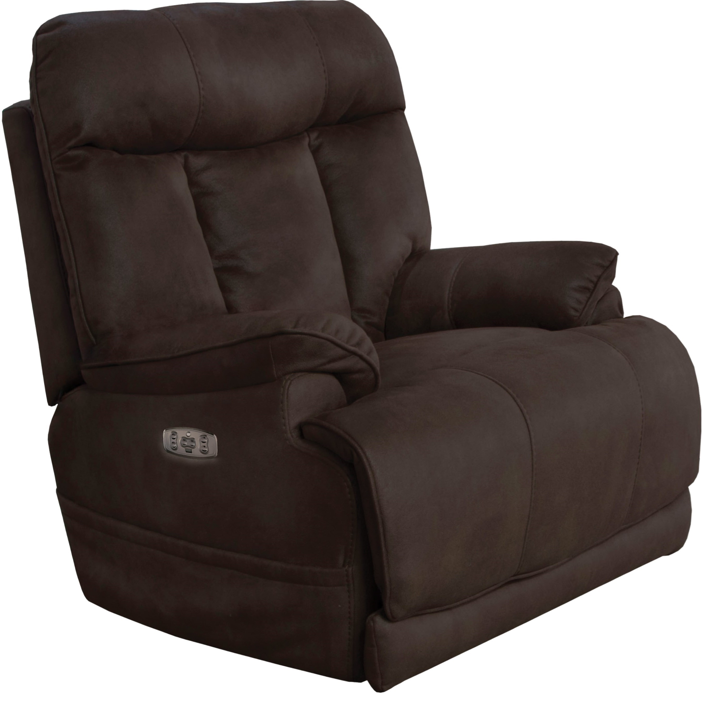 Catnapper Amos Casual Power Lay Flat Recliner With Power