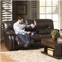 Catnapper Arlington Reclining Console Loveseat with Storage and Cupholders - Loveseat Shown May Not Represent Exact Features Indicated
