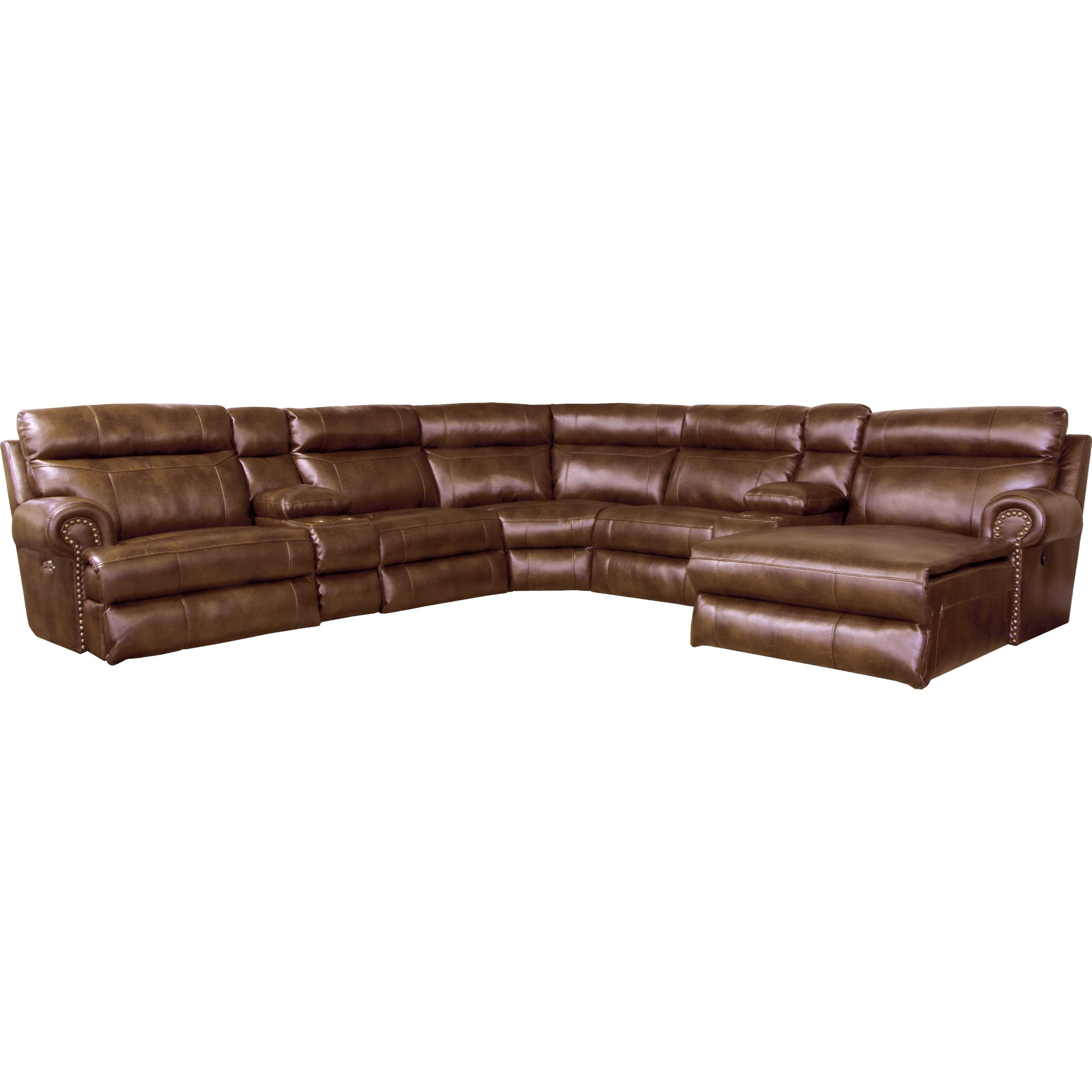 Catnapper Ashton Reclining Sectional Sofa with 5 Seats Miskelly