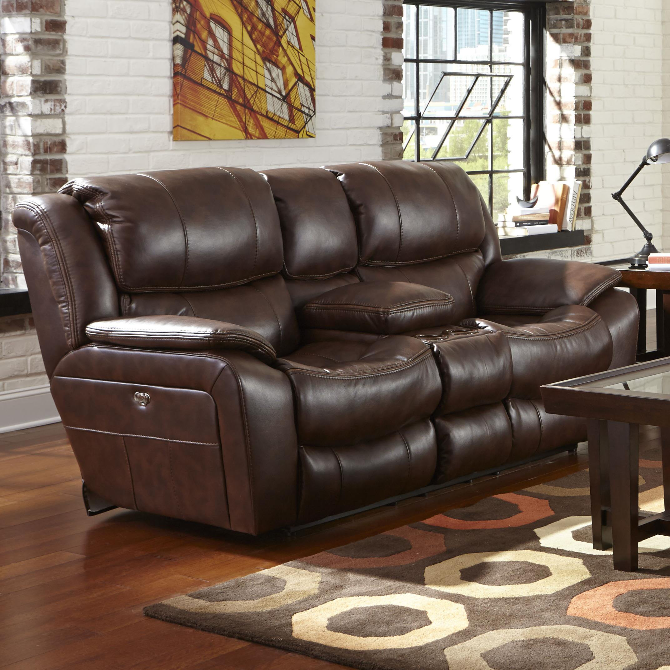 Catnapper beckett reclining loveseat with usb port cup holders and storage console knight Catnapper loveseat recliner