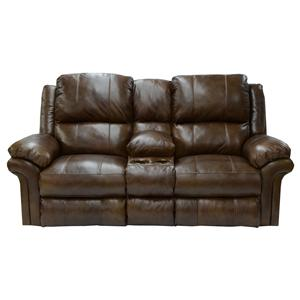 Catnapper Benson Power Lay Flat Reclining Console Loveseat