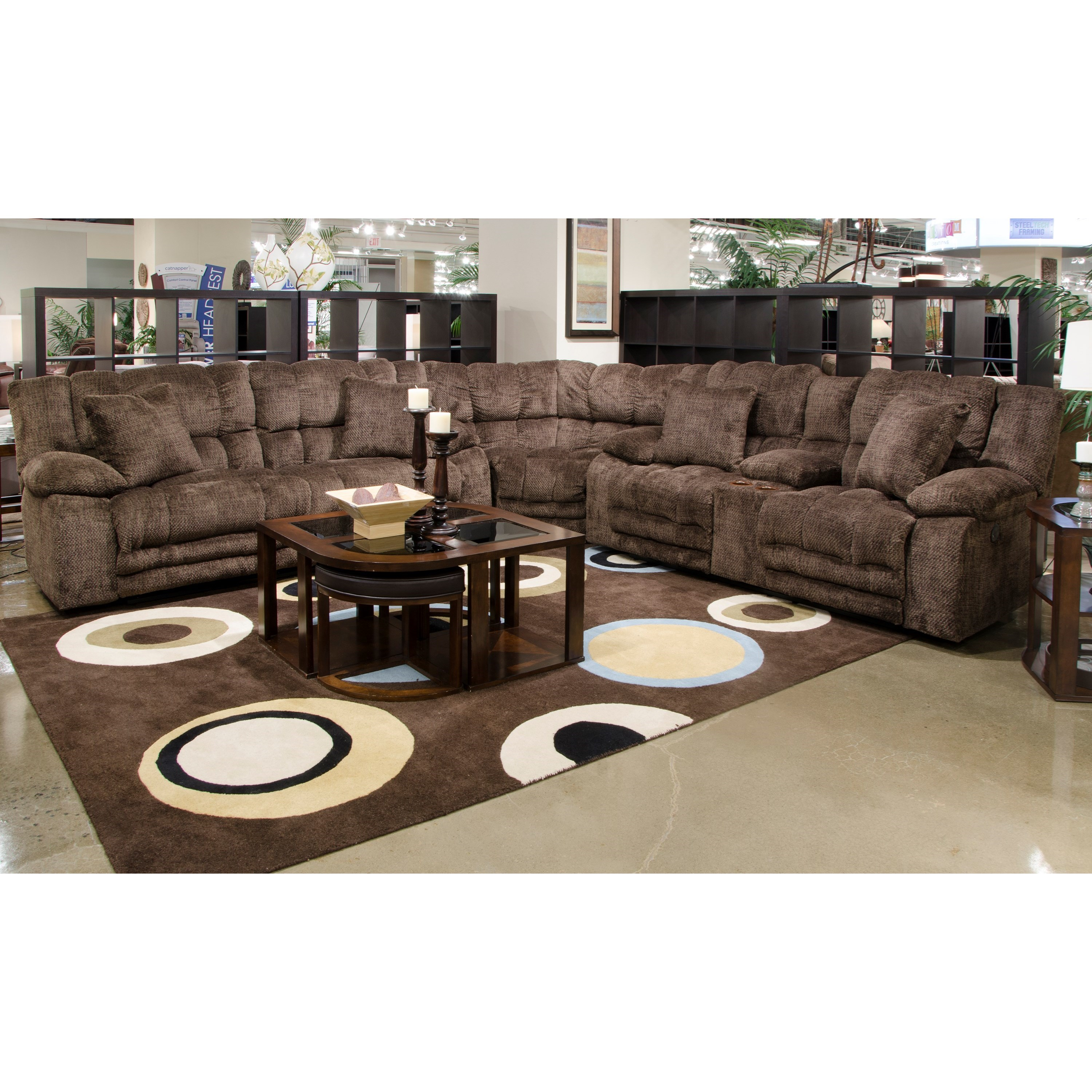 3 Piece Power Lay Flat Reclining Sectional
