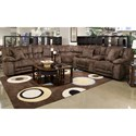 Catnapper Branson 3 Piece Power Lay Flat Reclining Sectional - Item Number: 62001+9+2008-2705-09