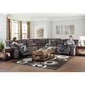 Catnapper Branson 3 Piece Power Lay Flat Reclining Sectional - Item Number: 62001+9+2008-2705-28
