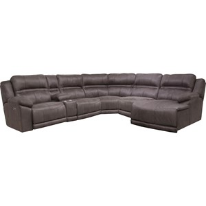 Catnapper Braxton Five Seat Reclining Sectional Sofa