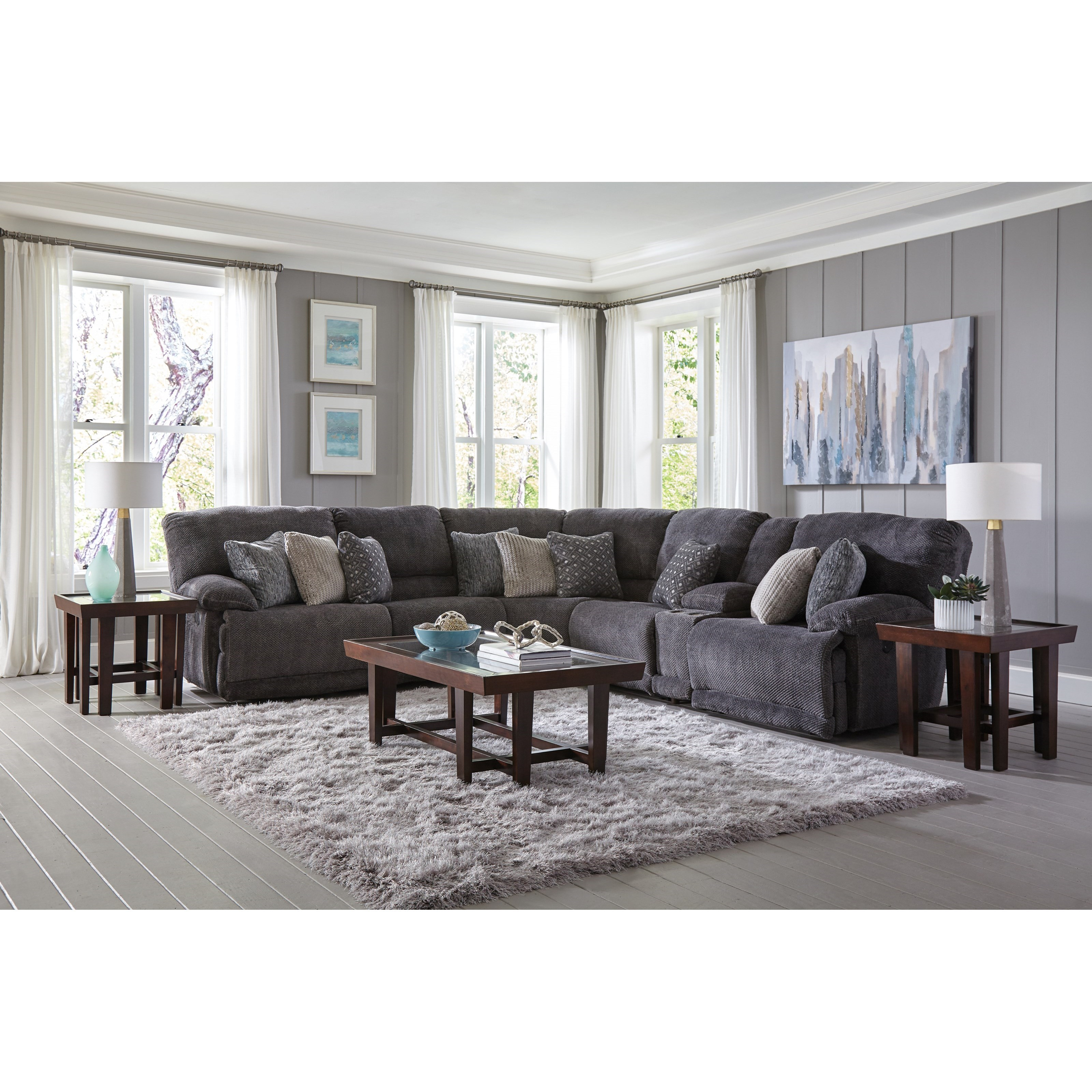 Ashley Furniture In Burbank: Catnapper Burbank Power Reclining Sectional With Cup