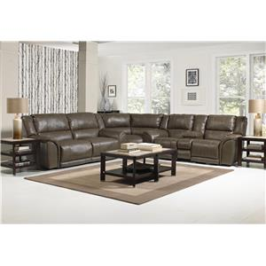 Catnapper Carmine Power Reclining Sectional Sofa