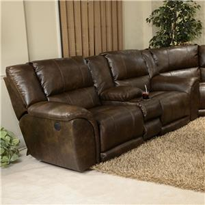 Catnapper Carmine Power LF Console Loveseat with USB