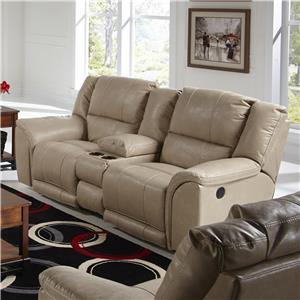 Catnapper Carmine Lay Flat Console Loveseat with USB Port