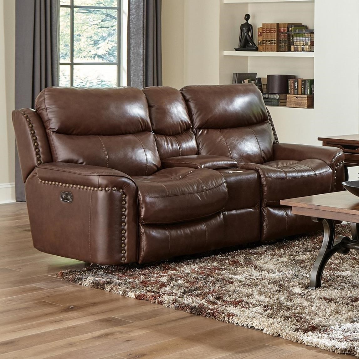 Power Reclining Console Loveseat w/ Storage