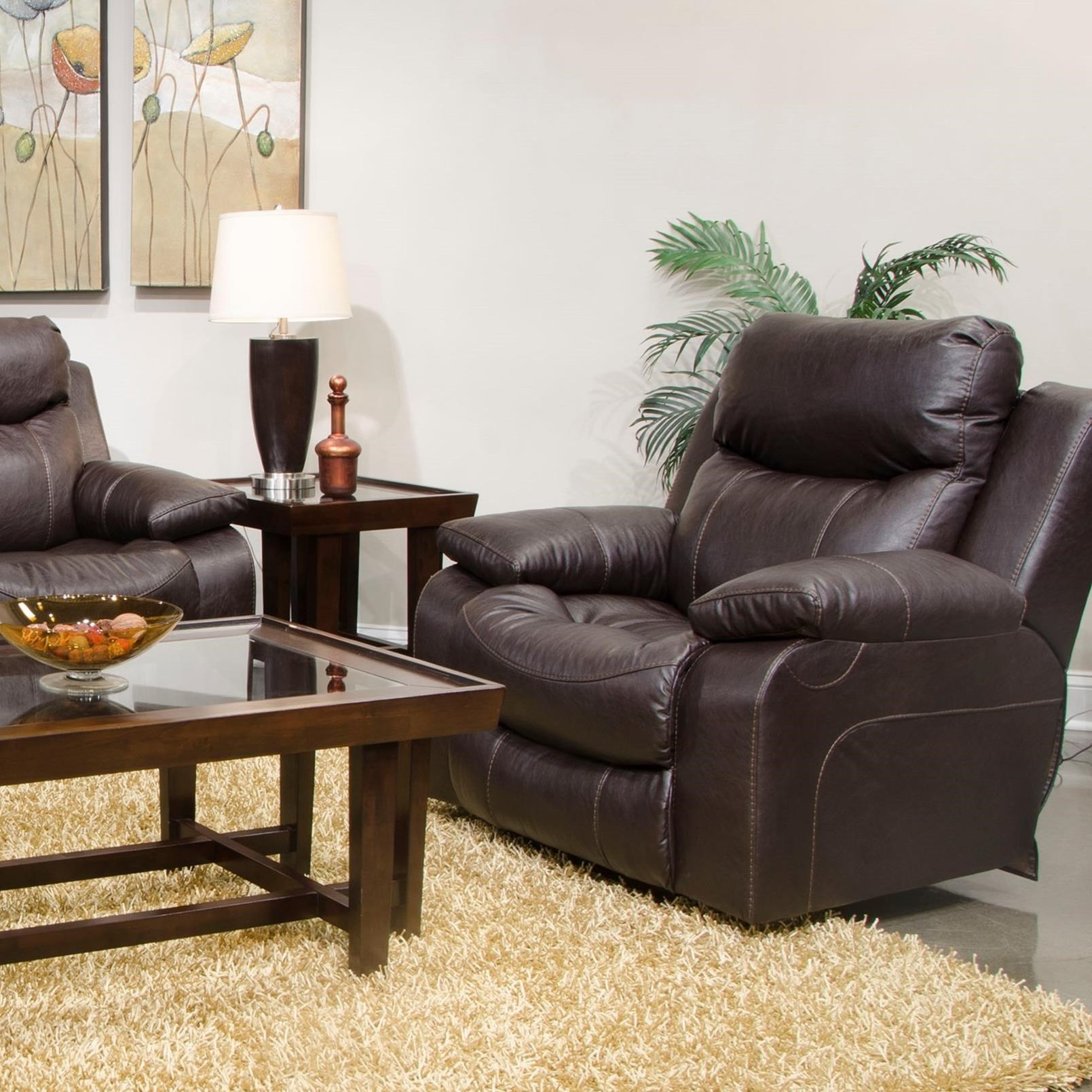 Catnapper Connor Power Lay Flat Recliner - Item Number: 64000-7-1123-29-1223-29