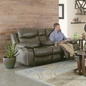 Catnapper Connor Lay Flat Power Reclining Console Loveseat - Item Number: 64009-1123-39-1223-39