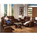 Catnapper Dallas  Top Grain Leather Reclining Sofa - Shown with Coordinating Loveseat