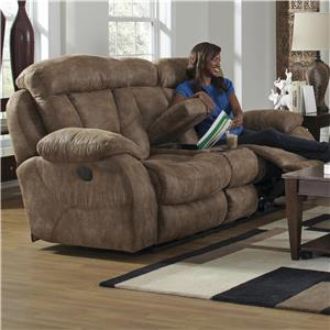 Catnapper Desmond Lay Flat Reclining Loveseat with Console