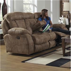 Catnapper Desmond Power Lay Flat Reclining Loveseat w/ Console